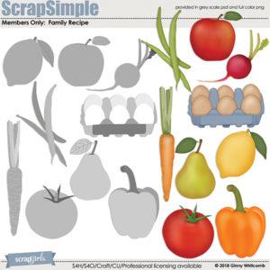Family Recipe food embellishment templates SEP 2018 BONUS product