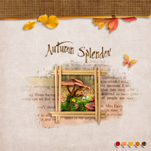 Scrapbook page uses Artistic Autumn SG Club