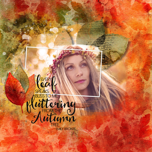 Autumn Watercolor Layer Styles layout