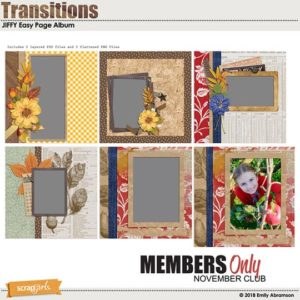 Nov 2018 Transitions SG Club BONUS