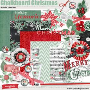 Chalkboard Christmas digital kit