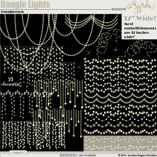 Dangle Lights clip art