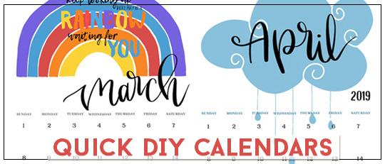 Quick DIY Calendars