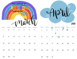 decorated calendar pages