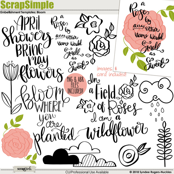 Bloom templates and clip art