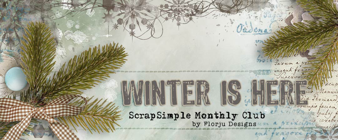 Scrap Girls ScrapSimple Club Exclusive: Winter is Here