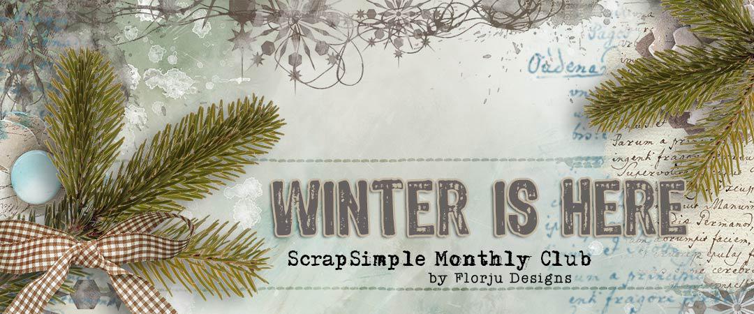 Scrap Girls ScrapSimple Club Exclusive: Winter is Here