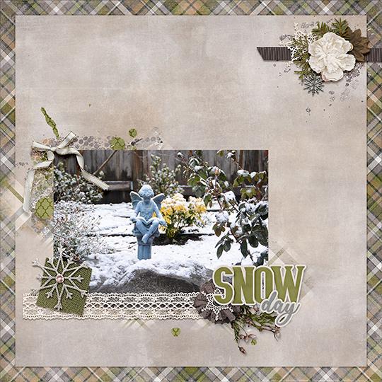 Jan 2019 SG CLUB Snow Beautiful Scrapbook Layout
