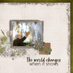 Jan 2019 SG CLUB Snow Beautiful Scrapbook page
