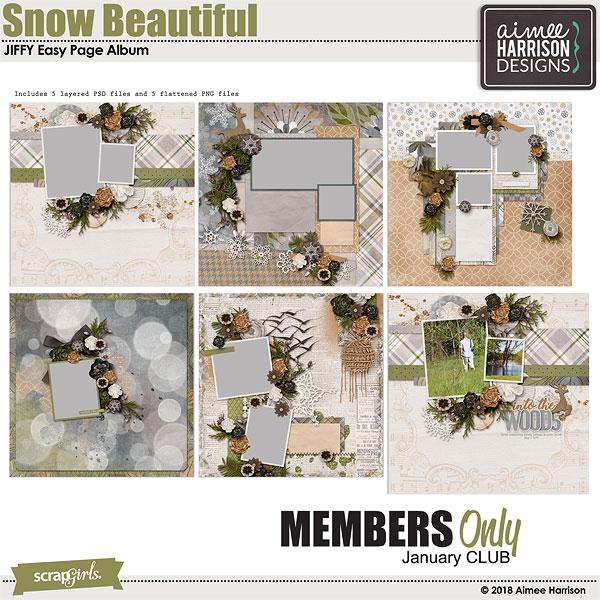 Jan 2019 SG CLUB Snow Beautiful Bonus JIFFY Album