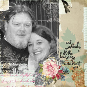 Scrapbook page created Love Notes Digital Kit