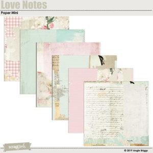 Feb 2019 SG CLUB BONUS Love Notes papers