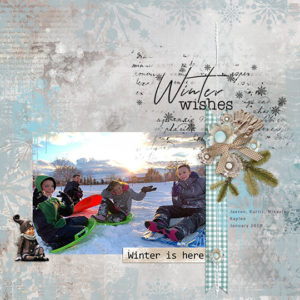 JAN19_SSCLUB-Winter is Here Scrapbook page