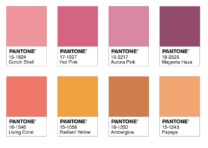 Pantone Color 2019 palette