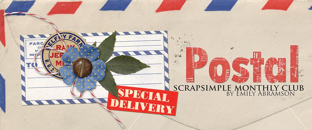 Scrap Girls ScrapSimple Club Exclusive: Postal