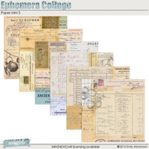 Ephemera Collage Paper Mini 3