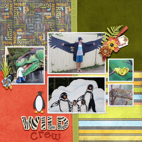 Layout using Wild Things Collection