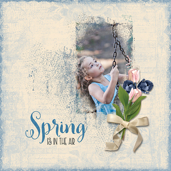 April 2019 SS Club - Grunge Effect Layout