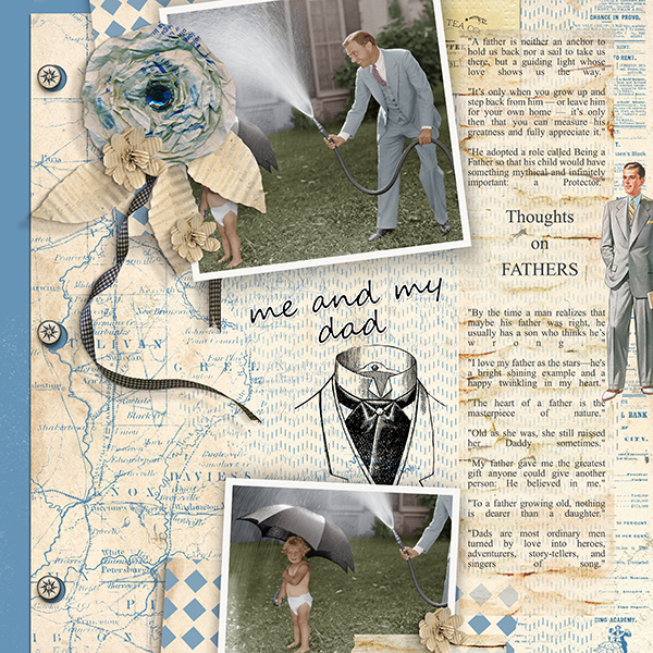 Father's Day Layout by Judy