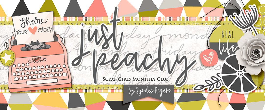 Scrap Girls Club Exclusive: Just Peachy