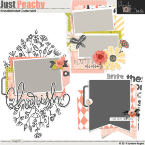 Just Peachy Embellishment Clusters