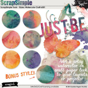 Watercolor Craft Layer Styles