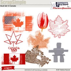 Brush Set: O Canada
