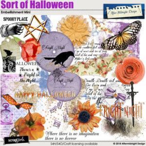 Sort of Halloween Embellishment Mini