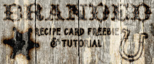 Branded Wood Recipe cards