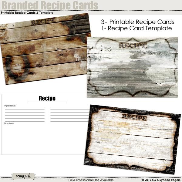 Branded Recipe cards freebie
