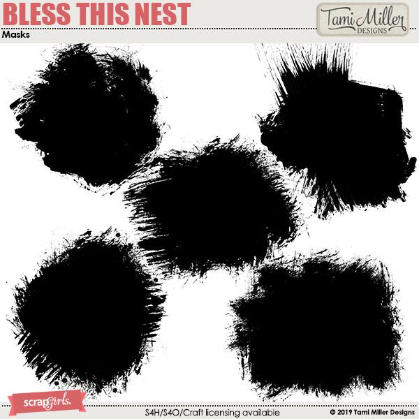 Bless This Nest Club Bonus masks