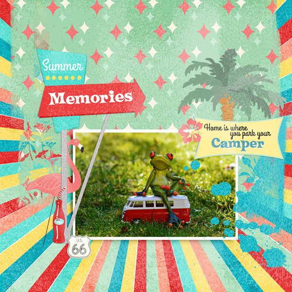 Kitschy Summer Collection Mini Layout