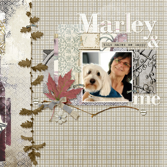 Scrapbook page using Backroads digital kit by Amy Flananga