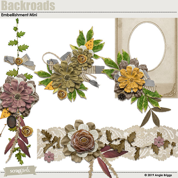 Backroads embellishment clusters