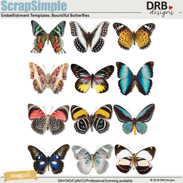 Templates Bountiful Butterflies