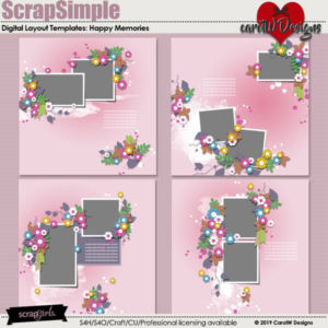 ScrapSimple Digital Layout Templates: Happy Memories