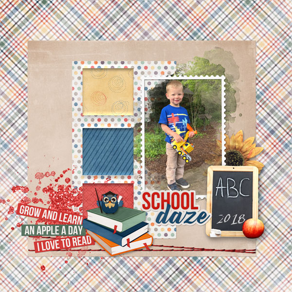 layout using School Daze Collection