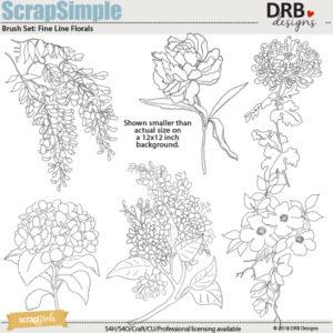 Fine Line Florals Brushes