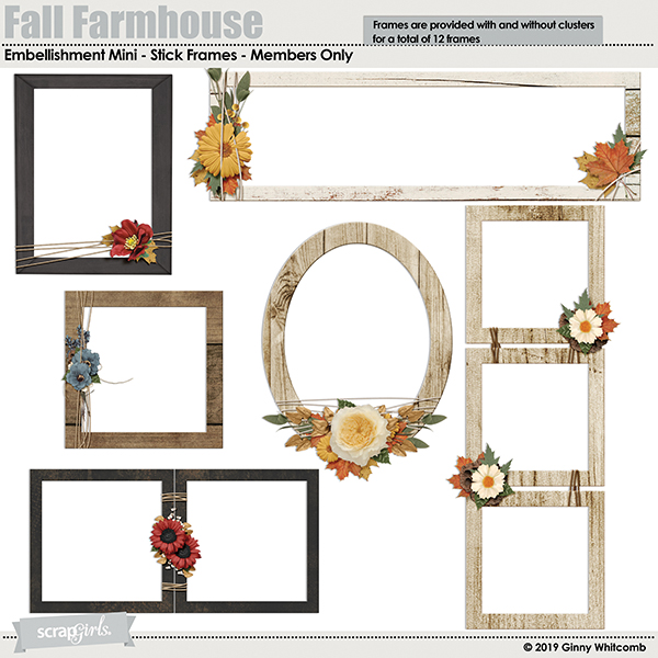 Fall Farmhouse BONUS embellishments