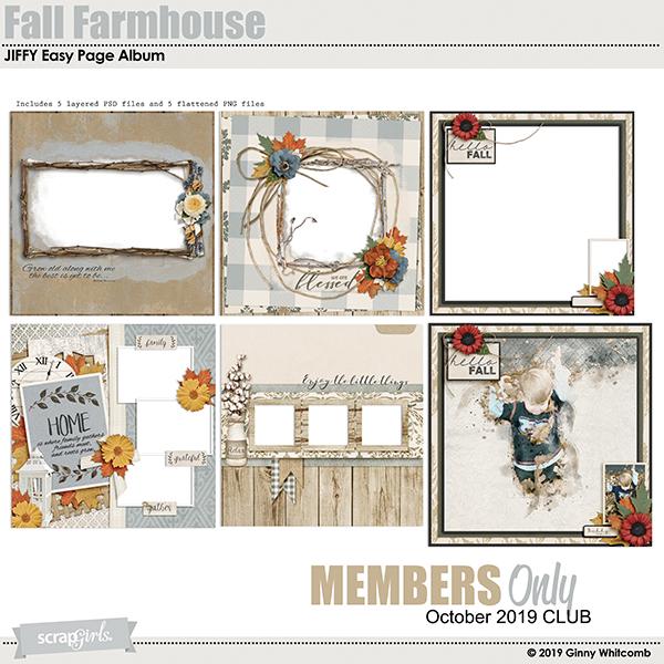Fall Farmhouse Jiffy Album BONUS