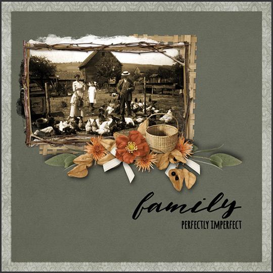 Fall Farmhouse layout by Carmel Munro