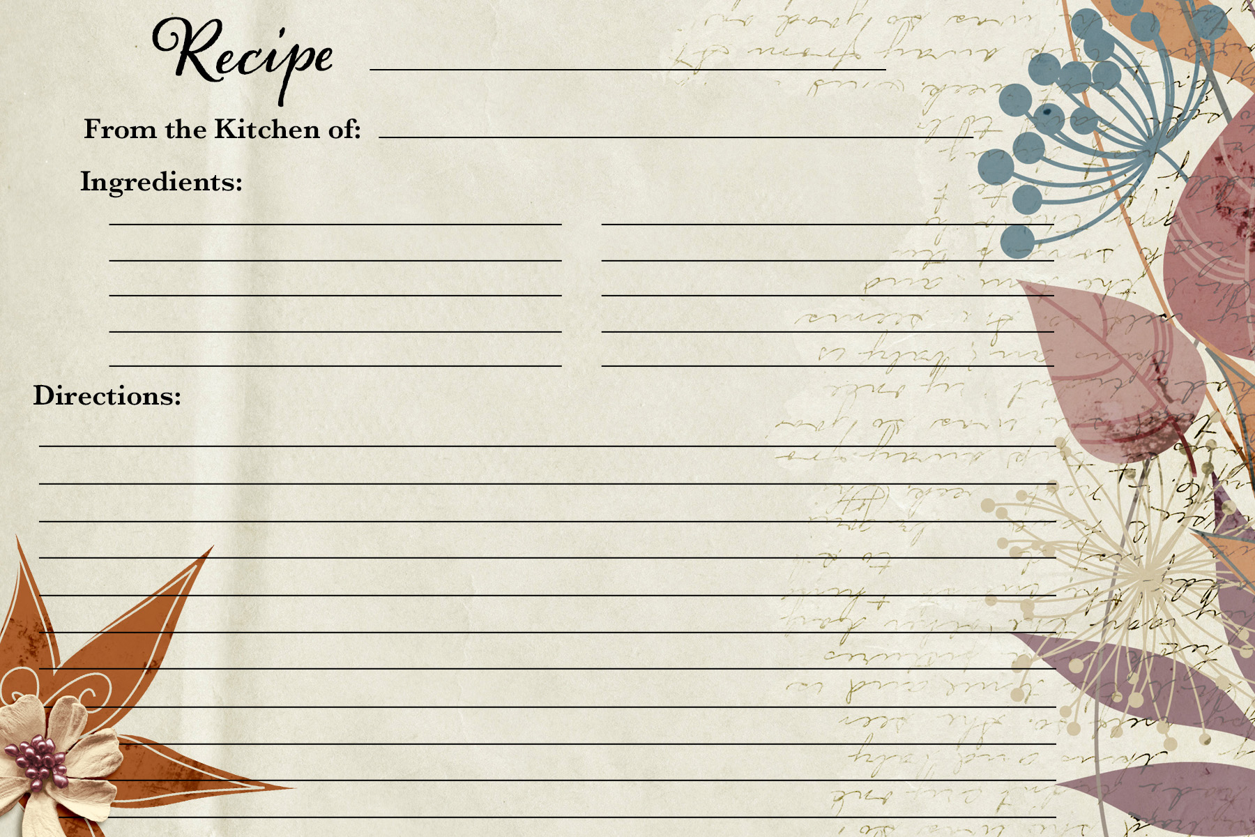 Fall Recipe Card1