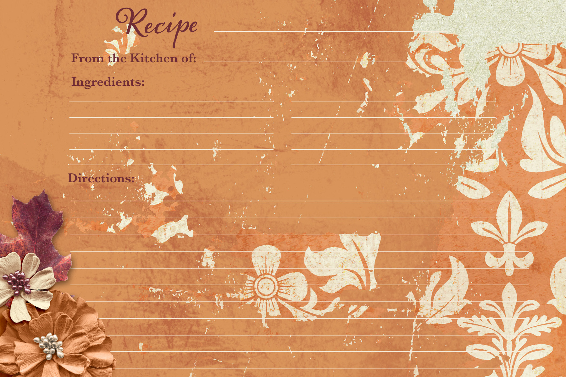 Fall Recipe Card2