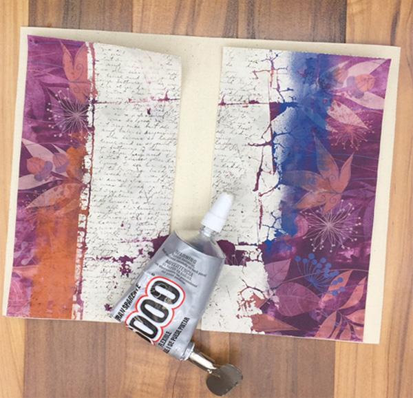 Printable pamphlet journal glue