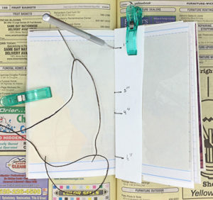 Printable pamphlet journal assemble