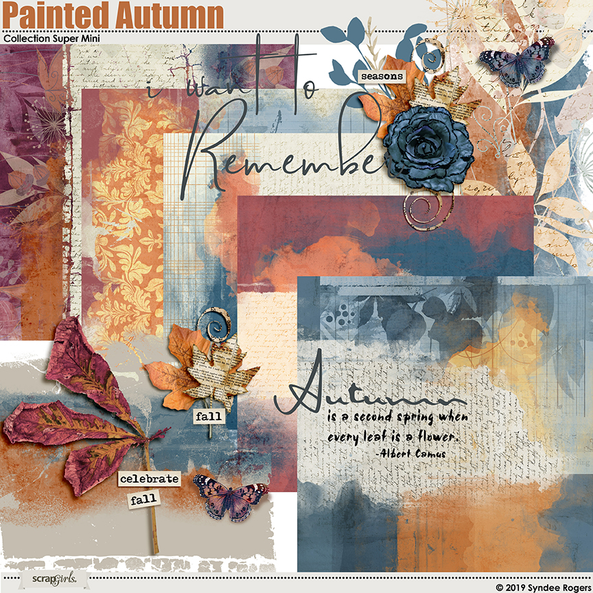 Painted Autumn digital kit