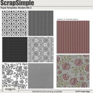 Modern Mix 2 SS paper templates