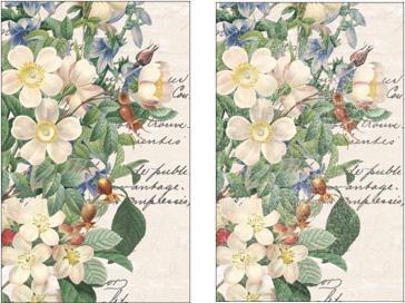 Add vintage flowers