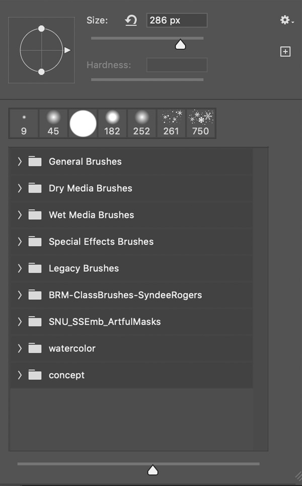 Brush Picker in Photoshop CC