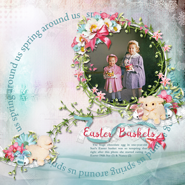 Easter layout using Traces of Spring Collection